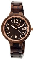 Earth Women's Nodal Watch with Luminous hands and Date Display-Brown
