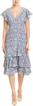 Nanette Lepore Silk Midi Dress