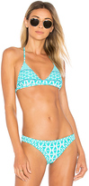 Seafolly Modern Geometry Action Back Top in Teal
