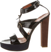 Lanvin Patent Leather Platform Sandals