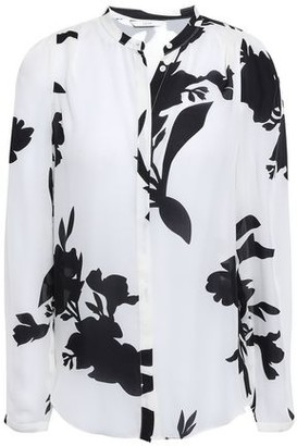 Joie Printed Silk-crepe Shirt