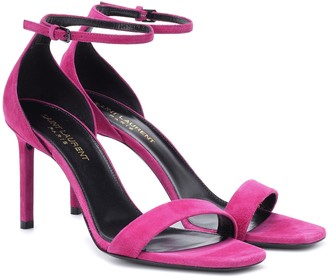 Saint Laurent Amber 85 suede sandals
