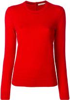 Tory Burch Crewneck Cashmere Sweater With Logo