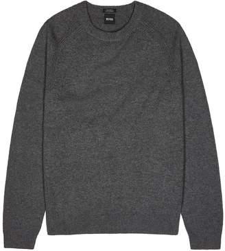 BOSS Banilo Grey Cashmere Jumper