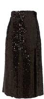 Gucci Hem-slit Sequinned Midi Skirt - Womens - Black