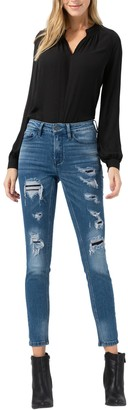 Vervet By Flying Monkey Mid Rise Distressed Jeans