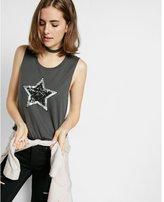 Express one eleven sequin star muscle tank