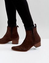 Jeffery West Murphy Chelsea Boots In Brown Suede