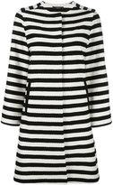 Odeeh horizontal stripe coat - women - Cotton - 38