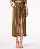 J.o.a. Striped High-Low Wrap Skirt