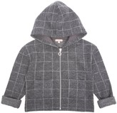 Emile et Ida Checked Zip-Up Hooded Sweatshirt