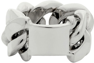 Bottega Veneta Silver Gourmet Chain Ring