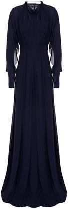 Roland Mouret Cutout Silk Crepe De Chine Gown