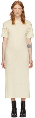 Ami Alexandre Mattiussi Off-White T-Shirt Dress