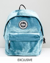 Hype Exclusive Teal Velvet Backpack