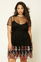 Forever 21 FOREVER 21+ Plus Size Embroidered Dress