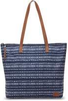 Toms Navy Batik Stripe Textile Cosmopolitan Tote Bag