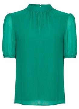 Dorothy Perkins Womens **Billie & Blossom Green Puff Sleeve Blouse, Green