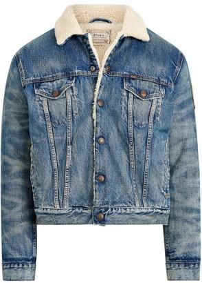 Polo Ralph Lauren Faux Shearling Lined Denim Jacket