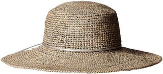 Scala Women's Crocheted Raffia Hat