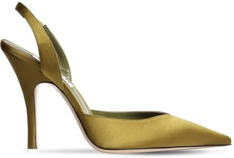 ATTICO 105mm Satin Sling Back Pumps