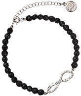 Blee Inara Silver Onyx and CZ Infinity Bracelet