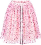 Fendi sheer floral skirt - women - Silk/Acrylic/Polyimide - 42