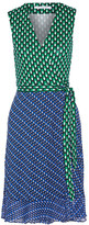 Diane von Furstenberg Bethanie Printed Chiffon-trimmed Silk-jersey Wrap Dress - Green