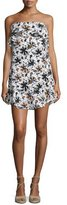 A.L.C. Romy Strapless Floral Silk Mini Dress, White/Multicolor