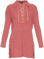 Undercover Long-sleeved tie-neck cotton-jersey top