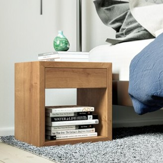 Ivy Bronx Traskwood Cube 1 Drawer Nightstand