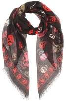 Alexander McQueen Printed silk-blend scarf