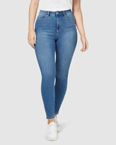 Thumbnail for your product : Jeanswest Women's Blue High-Waisted - Freeform 360 Contour Curve Embracer High Waisted Skinny 7-8 Jeans True Blue - Size One Size, 14 Regular at The