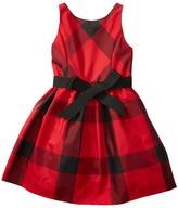 Polo Ralph Lauren Poly Taffeta Plaid Woven Dress (Little Kids)