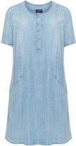 Via Appia Plus Size Open pocket denim dress