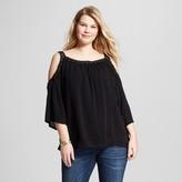 U-knit Women's Plus Size Lace Cold Shoulder Top