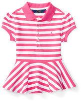 Ralph Lauren Striped Peplum Polo Shirt