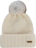 Burberry Fur-pompom wool and cashmere-blend beanie hat