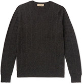 Burberry Cable-Knit Mélange Cashmere Sweater
