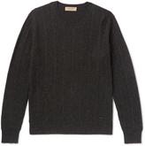 Burberry Cable-knit Mélange Cashmere Sweater