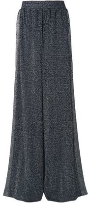 Golden Goose Sophie Striped Metallic Stretch-knit Wide-leg Pants