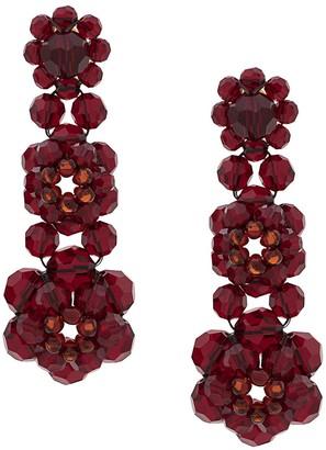 Simone Rocha Crystal Beaded Drop Earrings