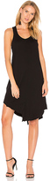 Wilt Shifted Shirttail Tank Dress in Black