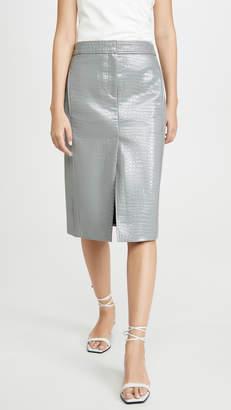 Tibi Croc Embossed Trouser Skirt