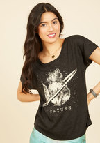 ModCloth Cat's Outta This World T-Shirt in XS