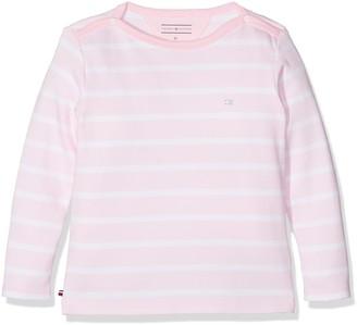 Tommy Hilfiger Baby Girls' Light BN Knit L/S Long Sleeve Top