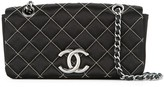 Chanel Pre Owned 2009-2010 CC double chain shoulder bag