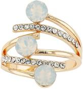 Brilliance+ Brilliance Three Stone Open Ring with Swarovski Crystal