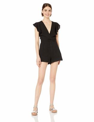The Fifth Label Women's Hazel Ruffle Sleeve Casual Shorts Romper Playsuit