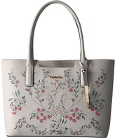 Calvin Klein Perforated Novelty Leather Tote Tote Handbags